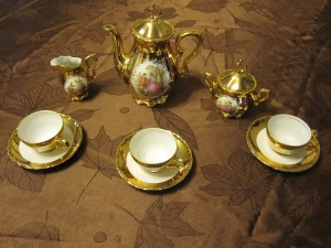 Our fancy new tea set